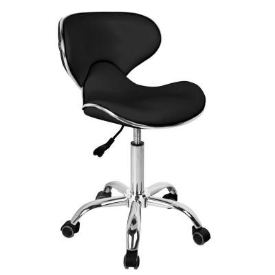 Елегантен черен козметичен стол