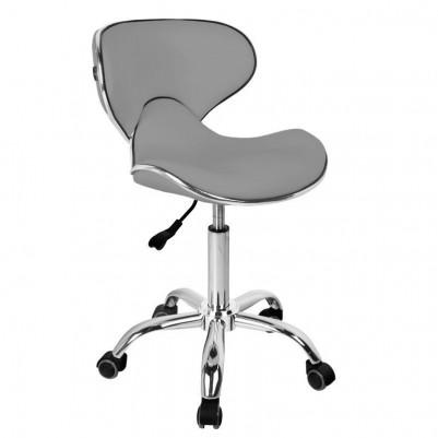 Елегантен сив козметичен стол