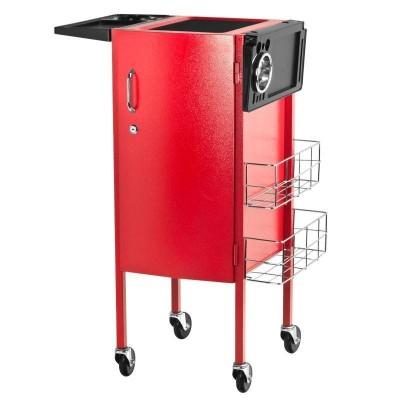 Елегантна фризьорска количка - червена