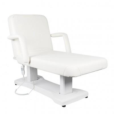Електрическа масажна кушетка с 3 двигателя - бяла