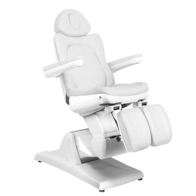 Електрически бял козметичен стол