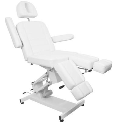 Козметичен електрически стол с 1 двигател - бял