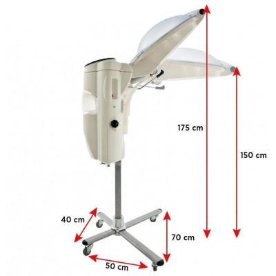 Фризьорска каска на стойка с озон