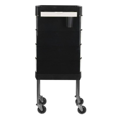 Фризьорска количка - бяло-черна
