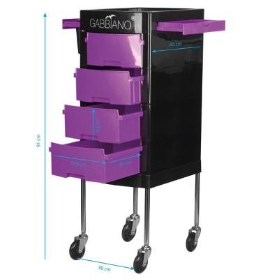 Фризьорска количка - лилаво-черна