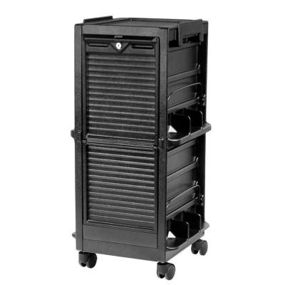 Фризьорска количка с шкаф с ролетка