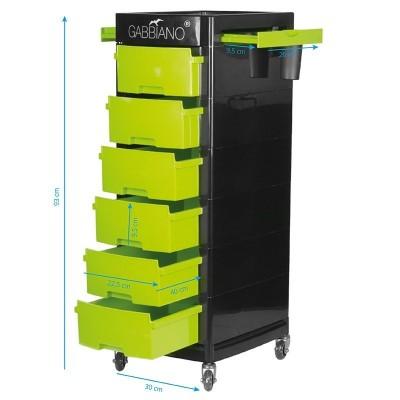 Фризьорска количка със зелено