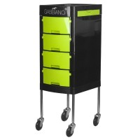 Фризьорска количка - зелено-черна