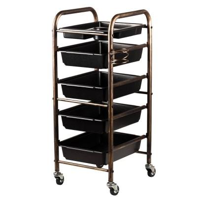 Фризьорска количка - злато