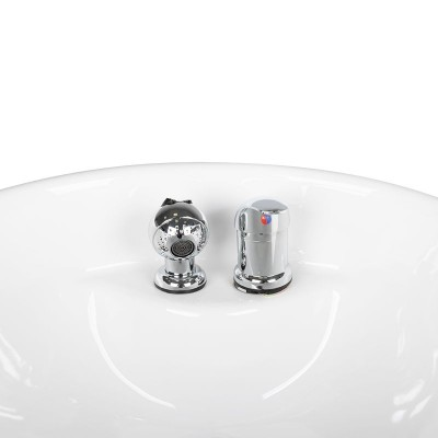 Фризьорска мивка на колона – бяла
