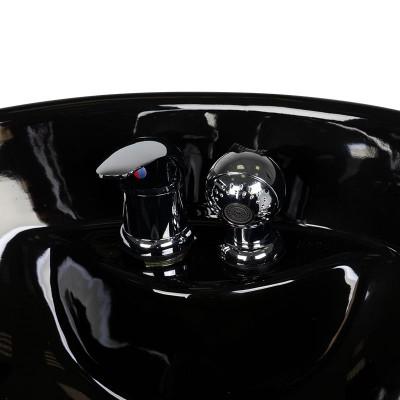 Фризьорска мивка на колона – черна
