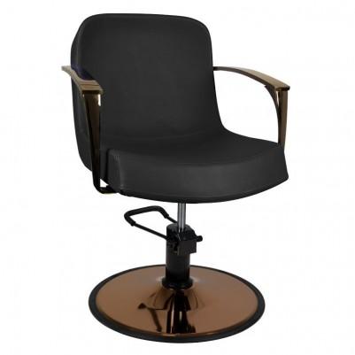 Фризьорски стол Болоня - медно и черно
