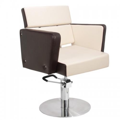 Фризьорски стол Дъблин - бежово-кафяв