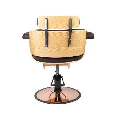 Фризьорски стол Флоренция - кафяв