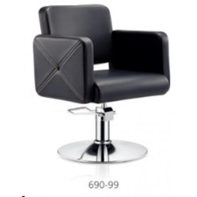 Фризьорски стол с хромирана основа