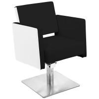 Фризьорски стол Мадрид - черно-бял