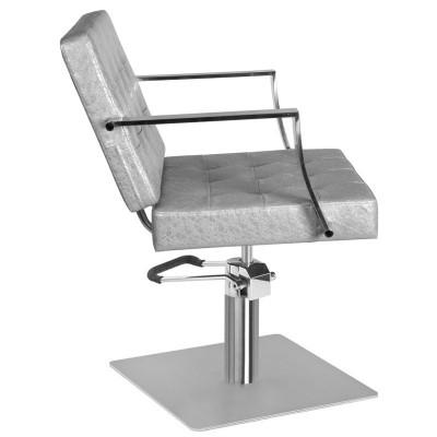 Фризьорски стол Марбела - сребрист