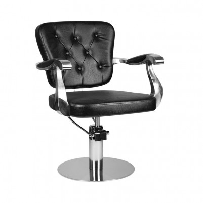 Фризьорски стол Молисе - черен