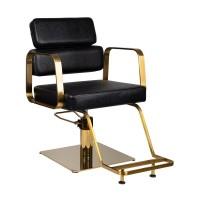 Фризьорски стол Порто – златно и черно