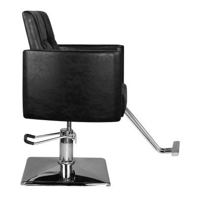 Фризьорски стол с повдигане - черен