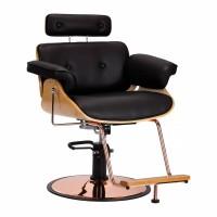 Фризьроски стол с регулиране Флоренция - черен