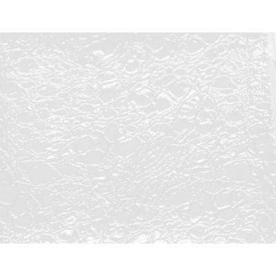 Фризьорски стол Рим - бял с оранжев кант