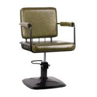 Фризьорски стол – зелен