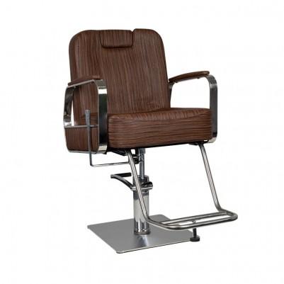 Кафяв фризьорски и бръснарски стол