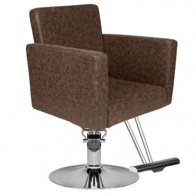 Кафяв фризьорски стол