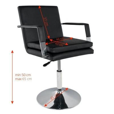 Комфортен фризьорски стол - черен