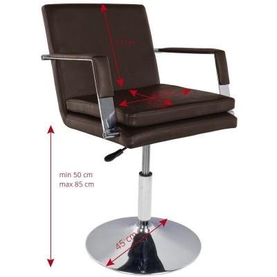 Комфортен фризьорски стол - кафяв