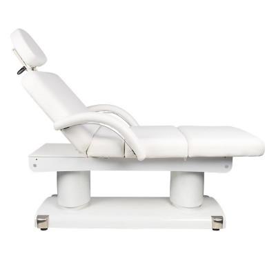 Комфортна масажна кушетка с 4 двигателя - бяла