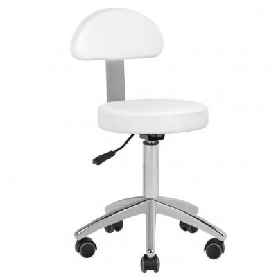 Компактен бял козметичен стол