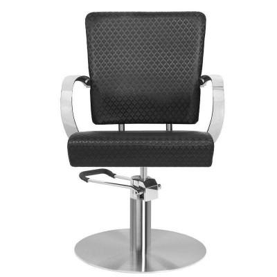 Кожен фризьорски стол - черен