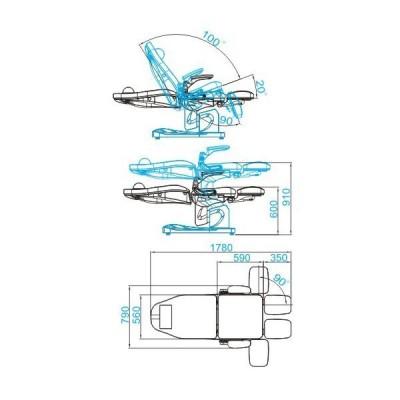 Козметичен електрически стол Azzurro капучино