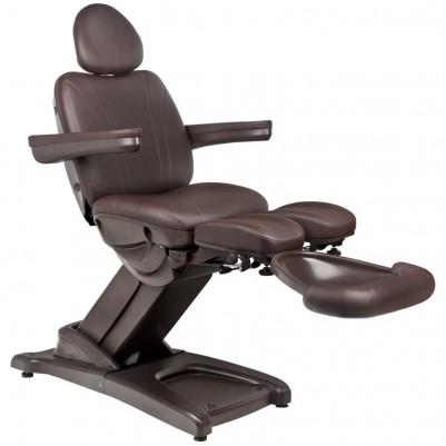 Козметичен електрически стол кафяв