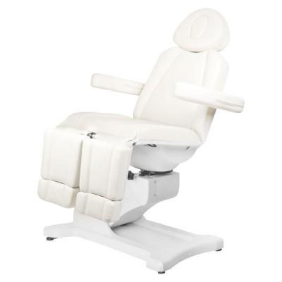 Козметичен стол електрически Azzurro бял
