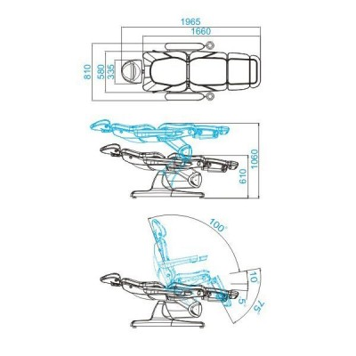 Козметичен стол електрически Azzurro капучино