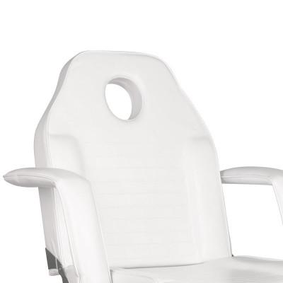 Козметичен стол на колела бял