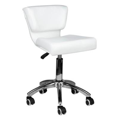 Козметичен стол с облегалка бял