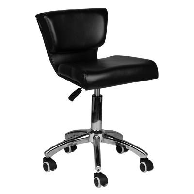 Козметичен стол с облегалка черен