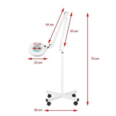 Лампа лупа със статив
