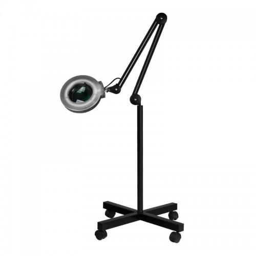 Лампа лупа със статив – черна