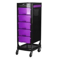 Лилаво-черна фризьорска количка