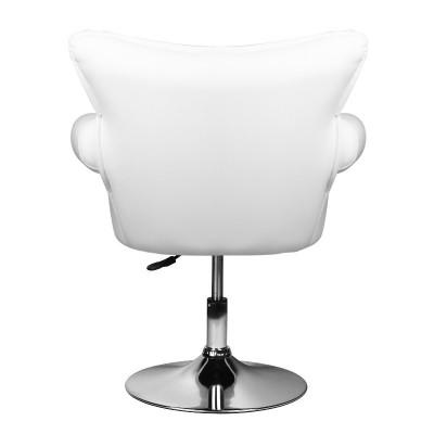 Луксозен бял козметичен стол