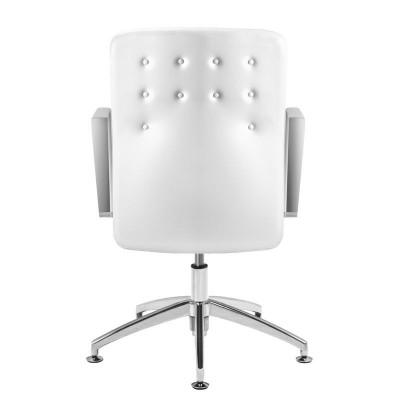 Луксозен бял козметичен стол Rico