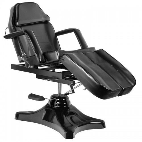 Луксозен черен стол за педикюр