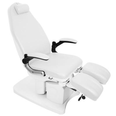 Луксозен козметичен електрически стол Azzurro бял