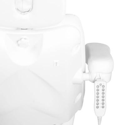 Луксозен козметичен електрически стол бял