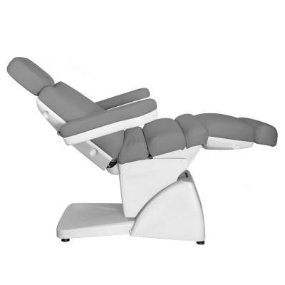 Луксозен козметичен електрически стол сив